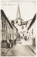CPA Photo FOUG – L'Eglise 1703 54 Meurthe Et Moselle 54570 Lorraine Animée Phototypie église Saint St Etienne - Foug