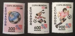 ECUADOR - MNH** - 1994 - # 1340/1342 - Equateur