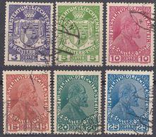 LIECHTENSTEIN - 1917/1918 - Serie Completa Di 6 Valori Usati: Yvert 4/9. - Liechtenstein