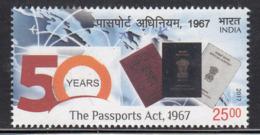 India MNH 2017, The Passport Act, Aviation, Airplane, Map, Globe, Document, Etc - India
