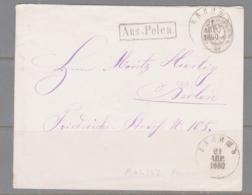 POLAND - 1880 - 7K STATIONER COVER KALISZ TO BERLIN - ....-1919 Übergangsregierung