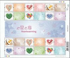 China Hong Kong 2015 Valentine's Day/Heartwarming Stamp Sheetlet MNH - 1997-... Région Administrative Chinoise