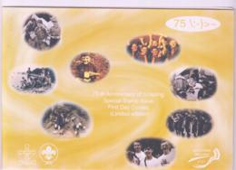 SCOUTS - IRELAND - 2002 - SCOUTS SET OF 4  + SELF ADHESIVES SET ON 2 FDCS - Lettres & Documents