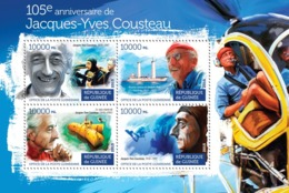 Guinea 2015  Boat Of Jacques-Yves Cousteau, The Submarine .diving - Guinée (1958-...)