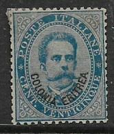 Eritrea, 1893, 25 Cents Blue, MH *, Gum Tone - Eritrea