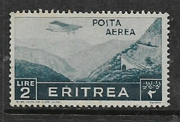 Eritrea, 1936, 2 Lire, Air Mail, MH * - Eritrea