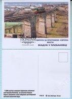 UKRAINE / Maxi Card / FDC / Viaduct In Plebanovka. Architecture. Railway. Transport. A Train EUROPA - CEPT. 2018. - Ukraine