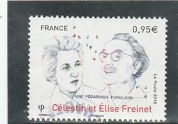 FRANCE 2018 CELESTIN ET ELISE FREINET OBLITERE - France