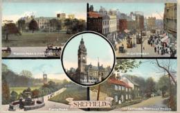 R154796 Sheffield. Multi View. 1909 - Postcards