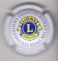 Capsule Champagne LIONS CLUB ( 44 ; Congrès Reims 2011 , Blanc ) 6€ {S13-19} - Champagne