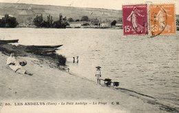 - 27 - LES ANDELYS (Eure). - Le Petit Andelys - La Plage - Scan Verso - - Les Andelys