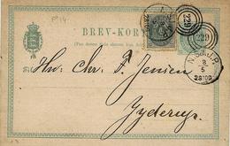 1883 - C P E P  4 Ore + 4 Ore  Cancelled N°  229 - 1864-04 (Christian IX)