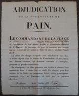 Arrêté Du Commandant De LOUVAIN Octobre 1829 - Concerne La Fourniture De Pain Aux Soldats (34cm X 42cm) - Décrets & Lois