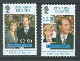 Pitcairn Islands 1999 Prince Edward Royal Wedding Set 2 MNH - Stamps