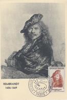 Carte  Maximum  1er  Jour   FRANCE    REMBRANDT   Salon  Philatélique  D' Automne   PARIS   1957 - 1950-59