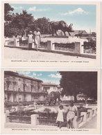 30. BEAUCAIRE. Statue Du Fameux Toro Cocardier 'Le Clairon' De La Manade Granon. 2 Cartes - Beaucaire