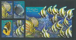 Pitcairn Islands 2001 Reef Fish Set 4 & Miniature Sheet  MNH - Pitcairn Islands