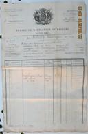 Empire Français, Permis De Navigation Intérieure, Le Chaland De...............N° , Rôle De Équipage Dudit....... - Documents Historiques