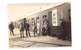 Tientsin. Tianjin.Soldats Italiens .Gare. Train Drapeau Italien. Années 30 /40. - China