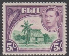 Fiji SG 266 1938-55 King George VI Five Shillings, Mint Never Hinged - Fiji (...-1970)