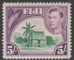 Fiji SG 266 1938-55 King George VI Five Shillings, Mint Never Hinged - Fidji (...-1970)