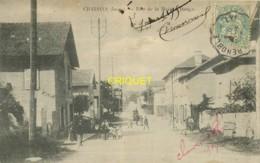 38 Chalons, Rue De La Maison Rouge, Animée, Diligence...., Belle Carte Pas Courante Affranchie 1905 - Other Municipalities