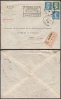 France 1925 - Lettre  Recommandé Yv140+170+176 De Puteaux Vers Paris (DD) DC 2167 - Covers & Documents