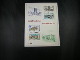 "BELG.1968 1466-1467-1468 & 1469 Serie FDC Fhilacard (ronquières)  : "" Intérêt National / Nationaal Belang  "" - 1961-70"