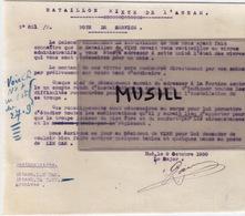 Bataillon Mixte De L'Annam, Hué. Note De Service, Destinataires: Lim Cam Et Ha Tinh (Lieutenant Troyes) 9/10/ 1930. - Documents