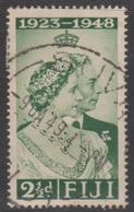 Fiji SG 270 1948 Royal Silver Wedding, 2.5d Green, Used - Fiji (...-1970)
