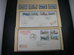"""BELG.1968 1466-1467-1468 & 1469 Serie FDC's (DePanne & Lissewege) & Serie**  : """" Intérêt National / Nationaal Belang  """" - FDC"""