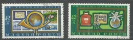"""Ungarn 2813-14A """"Satz Mit 2 Briefmarken Kpl. Zur Wiedereröffnung Des Post- U. Fernmeldewesens"""" Gestempelt Mi.:3,00 &euro - Hongrie"""