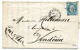 PARIS Etoile 35 MINISTERE DES FINANCES Sur N°60 Sur LAC Du 18/12/1871 - Marcophilie (Lettres)