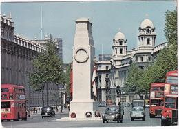 London: MORRIS MINOR, FORD ANGLIA, AUSTIN FX TAXI, DOUBLE DECK BUSES - Cenotaph, Whitehall - Toerisme