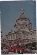 London: FORD ESCORT PANEL-VAN, HILLMAN SUPERMINX, DOUBLE DECK BUSES - St. Paul's Cathedral - Toerisme