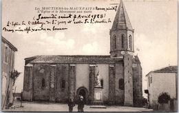 85 LES MOUTIERS LES MAUXFAITS - L'église Et Le Monument Aux Morts - Moutiers Les Mauxfaits