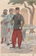 -CP-ZOUAVES - LIEUTENANT , GRANDE TENUE. (Maurice Toussaint)  Voir Scan - Autres Illustrateurs