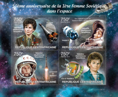 Central Africa 2013  First Soviet Woman In Space, (Valentina Tereshkova,Vostok 6 Rocket) - Central African Republic