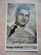 Freddy Sunder Ronnex Recording Artist Gesigneerd - Chanteurs & Musiciens