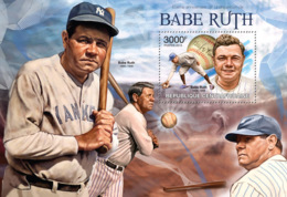 Central Africa 2013  Babe Ruth, American Professional Baseball Player - Central African Republic