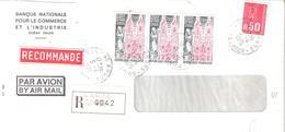 Réunion :- ST ANDRE Sur Letttre Recommandée Affranchissement Divers - Postmark Collection (Covers)