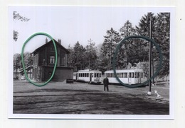 LASNE : Station Vicinale ( TRAM )  Photo De Vieux Cliché 1958  ---   Foto Van Oude Cliché 1958 -    (  15 X 10 Cm ) - Lasne