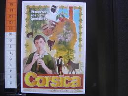 CP Carte Postale Postcard ANCIENNE AFFICHE Chemin De Fer PLM VILLES Clouet CORSICA ILE DE BEAUTE - Andere
