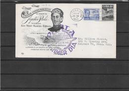Cuba 1952- Ffc Habana To Key West To Melrose,Mass. (Ref 913) - Cuba