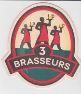 974 Sous Bock  - Brasserie DES 3 BRASSEURS  - LOCALEMENT  A LA REUNION - BEER PILS BEAR BIERE - - Sous-bocks