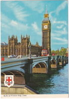 London: AUSTIN MINI, MINIVAN, FX TAXI, DOUBLE DECK BUSES - Big Ben, Westminster Bridge - Toerisme