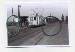PLANCENOIT: Vue De La Station En Direction Wavre (TRAM) Photo De Vieux Cliché - Foto Van Oude Cliché 1964 (15 X 10 Cm) - Lasne