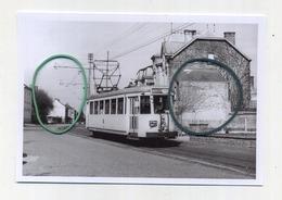 Montigny-le-Tilleul: Ligne 74 Charleroi-Bomerée  (TRAM) Photo De Vieux Cliché - Foto Van Oude Cliché 1958 (15 X 10 Cm) - Montigny-le-Tilleul