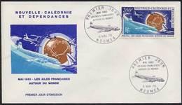 NOUVELLE CALEDONIE / 1970 AVIONS ENVELOPPE FDC Du PA # 112 (ref 1877) - FDC