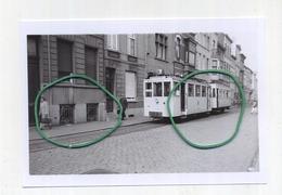 AALST : Autorail En Direction De St. Lievens-Houthem     (TRAM) Foto Van Oude Cliché 1955  (15 X 10 Cm) - Aalst